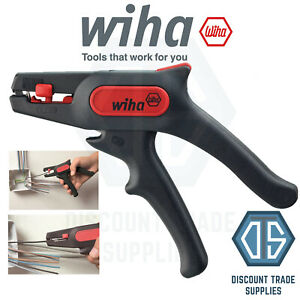 WIHA 44617 Automatic Cable Wire Stripper Hand Tool Plier 0.2mm to 6mm² 36050