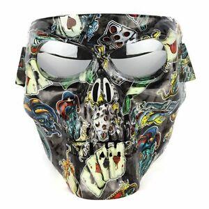 Off road motorcycle goggles bike sports cycling glasse skull helmet mask goggles