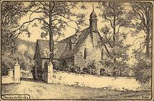 Wernigerode alte Postkarte ~1914/18 Zeichnung Partie an der Theobaldi Kirche