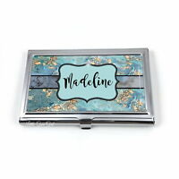 Custom Business Card Holder - Stainless Steel Card Case - Personalized Name
