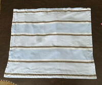 Pottery Barn Kids Blue Gray Stripe Pillow Sham Standard