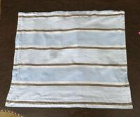 Pottery Barn Kids Blue Gray Stripe Pillow Sham Standard