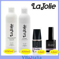 Kit Smalto Semipermanente - Cleaner + Remover  + Primer + Base&Top La Jolie