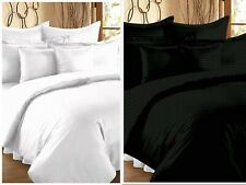 Solid 100% Egyptian Cotton Queen Size Flat Bed Sheets With 2 Pillow Covers
