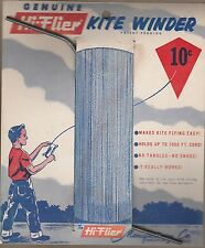 1960 HI-FLIER KITE WINDER  HOLDS UP To 1000 FT. CORD  NO TANGLES !  PRICED 10 CT