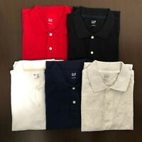 Gap Men's Short Sleeve Solid Pique Polo Shirt S M L XL XXL