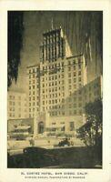 Automobiles El Cortez Hotel roadside San Diego California Postcard 20-3705