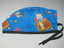 """Surgical Scrub Hats caps Disney's """"Jake and the Neverland Pirates"""" blue"""