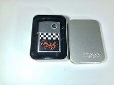 2002 Dale Earnhardt Checkered Flag Zippo Lighter New In Tin NASCAR Racing C5