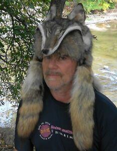 Coyote fur mountain man fur hat *  Badger , raccoon, red fox , Alaskan fur hats