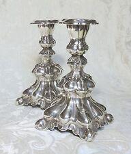 Coppia candelieri in stile barocco di Sheffield Prima NS c1900 Candlesticks