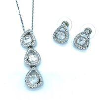 SWAROVSKI Bridal Jewelry Set For Weddings & Formals Tear Drop Necklace Earrings