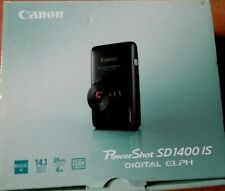 Canon PowerShot Digital ELPH SD1400 IS Digital Camera w Charger + 1GB Mem Card