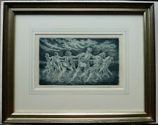"""Lionel S. Reiss American Jewish """"The Hora"""" Dance Framed Hand Signed & Numbered"""