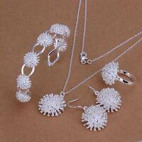 mujeres 925 plata  anillo pendiente del collar de la pulsera joyería hermoso