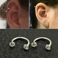 Lovely Piercing Septo Nose Lip Ear Septum Cartilage Captive Hoop Ring Jewelry TR