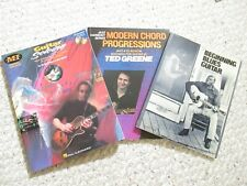 Modern Chord Progressions.Beginning Blues Guitar.Guitar Soloing.3 books