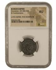 Roman AE Antoninianus of Diocletian (AD284-305) NGC (AU)