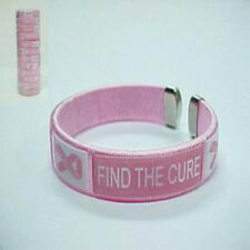 New listing Wholesale Lot of 12 Breast Cancer Awareness Find The Cure Wristband Bracelet