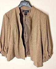 Brandon Thomas Women's Beige Open Front Blazer Jacket XL Extra Large