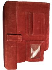 Men's Or Ladies Ostrich Binder, Maroon In Color. vG Condition!