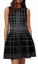 TOPSHOP DOT JACQUARD KNIT PRINT FIT & FLARE DRESS sz 6