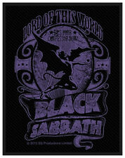 BLACK Sabbath-Patch ricamate-Lord of this world 8x10cm