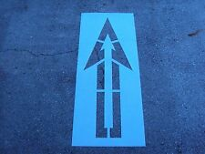 """Wal Mart 76"""" """"Inside Out"""" Straight Arrow Parking Lot Stencil .062"""" Thick Ldpe"""