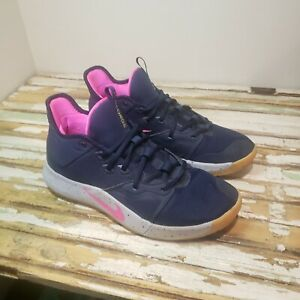 Nike Paul George PG3 A02607 401 Blue Pink Sneakers Shoes Mens Size 11