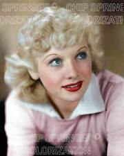 LUCILLE BALL AS A YOUNG BLONDE IN PINK BEAUTIFUL COLOR PHOTO BY CHIP SPRINGER
