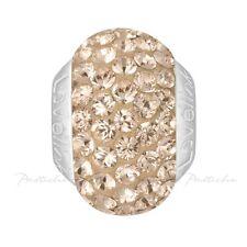 Lovelinks Bead Sterling Silver, Swarovski Rose Gold Crystals Bead Charm TT344RG