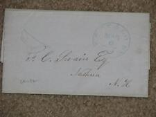Stampless Cover-Buffalo, N.Y. to Nashua, N.H., 1851