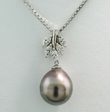 12-13mm Große Natürliche Schwarze Perle Anhänger Halskette Kette 925 Silber Schmuck Tahitian Perle Anhänger Halskette Edlen Schmuck Geschenke Gute QualitäT Anhänger