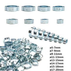 60/10tlg Schlauchschellen 2Ohr Schlauchklemmen Schlauchbinder Schellen 5-20mm