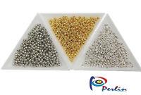 1200 Schmuckbastelsets Metallperlen Spacer Zwischenteile BEST 3mm Gold Silber