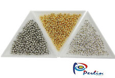 1200 Metallperlen Set Spacer Zwischenteile Schmuckherstellung 3mm Gold Silber