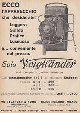 Z5207 Macchina fotografica Voigtlander - Pubblicità d'epoca - 1928 advertising