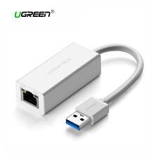 Tarjeta de red externa adaptador LAN USB 3.0 RJ45 Gigabit Ethernet Ugreen blanco