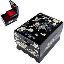 Nacre Music Jewelry Box Necklace Accessory Box Jewelry Organizer Women Gift 1001