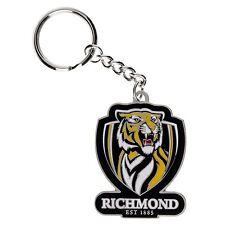 33743 RICHMOND TIGERS AFL TEAM LOGO MASCOT METAL KEYRING KEY RING