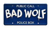 Doctor Who | TARDIS | BAD WOLF | Metal Stamped Standard USA Size License Plate