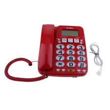 Fixed Dial Telephone Corded Home Hotel Photo Phone KX-2035CID,Red
