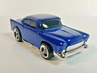 1997 Hot Wheels Blue Streak Series '55 Chevy Blue 210 3-Spoke Wheels 1/64 Loose