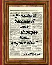 Bette Davis Quote Dictionary Art Print Book Page Picture Betty Wall Poster