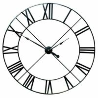 60CM Extra Large Wall Clock Round Open Face Roman Numerals Indoor Garden Clocks