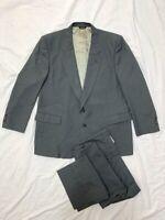 Vintage 80s Pierre Cardin Grey Pinstripe Wool 2pc Suit 42R 44x30