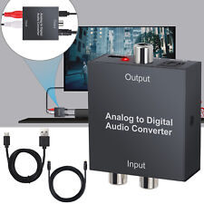 Analog to Digital Audio Converter Optical Coaxial Toslink Adapter  R/L RCA 3.5mm
