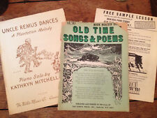 1969 OLD TIME SONGS & POEMS BOOK ONE + UNCLE REMUS DANCES + PIANO AD