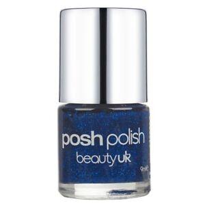 Beauty UK Posh Polish Nail Varnish Lacquer Shimmer Sparkle 11 DEEP BLUE SEA