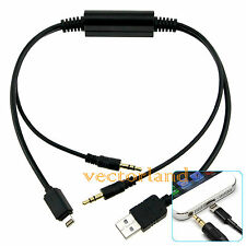 Per iPhone 5 5 S 5 C per BMW Mini Cooper Y Cavo Adattatore da USB a AUX Interfaccia Lead